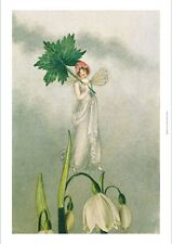 AMELIA JANE MURRAY Fairy Standing On Snowdrop CANVAS! various SIZES, BRAND NEW