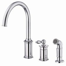 Danze® Prince Single Handle Deck Mount Kitchen Faucet with Spray
