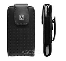 Premium Vertical Leather Holster Fixed Swivel Clip Case for Motorola Cell Phones