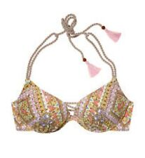 Victoria's Secret Pushup Bikini Top 32C 32D 34C Escape Paisley Embellish NWT
