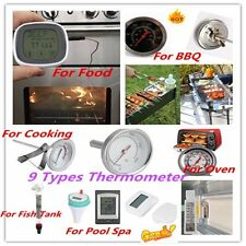 Instant Read Thermometer Pool Spa indoor&Outdoor Cooking Fridge Oven Thermometer