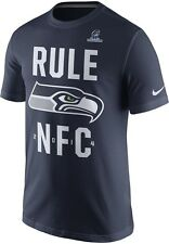 Nike Seattle Seahawks Rule NFC 2014 NFL Super Bowl Conference Champs T-Shirt NEW