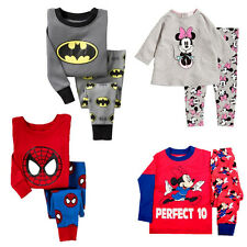 Kids Hero Mickey Sleepwear Nightwear Pj's Baby Boys Girls Pajamas Pyjamas set