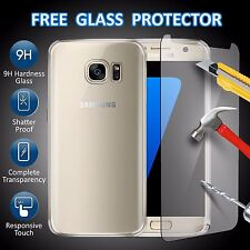 LUXURY TEMPERED GLASS SCREEN PROTECTOR AND GEL CASE FOR ALL Samsung Galaxy Phone
