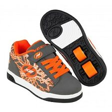 Heelys Dual Up Charcoal/Orange/Electricity X2 Shoe. Boys Heelys Girls Heelys
