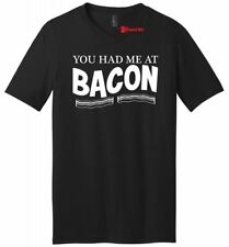 You Had Me At Bacon Funny Mens V-Neck T Shirt Bacon Lover Food Party Gift Tee