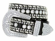 "Western Rhinestone Cowgirl Bling Women Studded Fashion Belt Wholesale 1.5"" 50118"