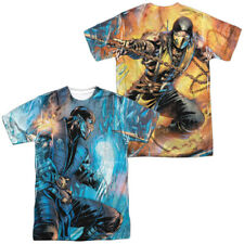 Mortal Kombat Kombat Comic Sublimation Front And Back Licensed Adult T Shirt