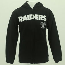 NFL Oakland Raiders Youth Size Hooded Full Zip Sweatshirt Front Pockets New