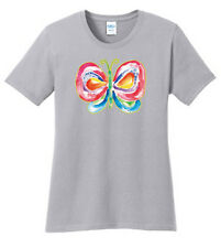 Color Changing Butterfly Graphic Tees Ladies S M L XL 2X 3X 4X Port and Company