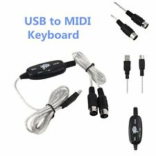 New USB to Midi Interface Piano Music Keyboard Cable Adapter Converter for PC LQ