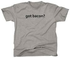 GOT BACON? Funny Pig Pork Bacon Lover Humor Tee - T-Shirt - NEW - Grey