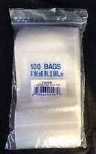 "1000 ZIPPER BAGS 4""x6"" 2 Mil Clear Poly Plastic ZipLock Recloseable USA"