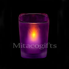 New Purple LED Tealight Candle + Candle Holder-Batteries Inc. 12, 48 or 120 Pack