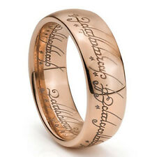 Custom Engraving 8mm Rose Gold Lord of Ring, LOTR Ring, ONE Ring, Tungsten Ring