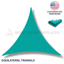 Sun Shade Sail Turquoise Green Triangle Canopy Awning  Patio Pool Outdoor Cover