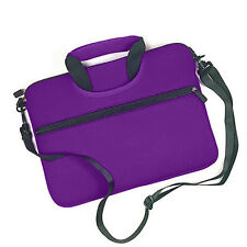 Purple with Front Pocket Handle Business Briefcase School Messenger Laptop Bag