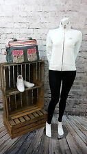 Nike Lady's Long Sleeve Tracksuit Training  Top Gym Jacket in WHITE COLOUR.