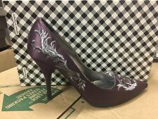 Mary Norton Women's Purple Satin Embroidered Pump
