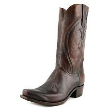 Lucchese 1883 Men 2E Square Toe Leather Brown Western Boot