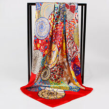 "New Arrival Satin-Silk Square Scarf Women's Fashion Printed Sirius Shawl 35""x35"""