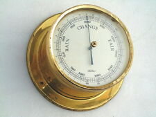 VINTAGE FISCHER GERMANY ALL BRASS PRECISION WEATHER BAROMETER