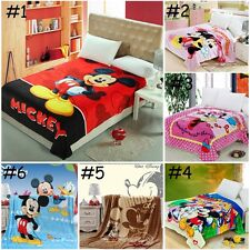 Cute Disneys Mickey & Minnie Mouse Soft Rug Plush Bedroom Throw Blanket Quilt