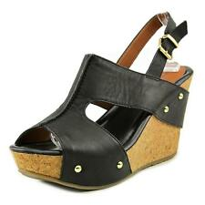 Kenneth Cole Reaction Sole-O Women  Open Toe Leather  Wedge Sandal NWOB