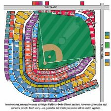 4 Tickets LOWER sec 223 Chicago Cubs Marlins HARD COPY 6/5/17 Wrigley Field