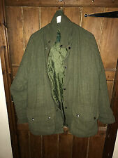 SHOOTING / HUNTING QUILTED HARRIS TWEED COAT SIZE LARGE UK