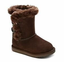 CHEROKEE DANNIE GIRLS SHOES / BROWN FLEECE SHEARLING BOOTS / TODDLER NEW W TAG!