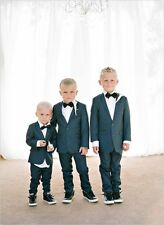 Cute Kid's Formal Wedding Groom Tuxedos Boys Children Graduation Party New Suits