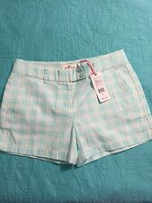 NWT Vineyard Vines Gingham Whale Dayboat Shorts Crystal Blue Size 0 ($98)