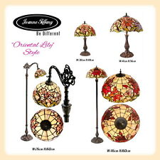 Amazing Oriental Lily  Style Stained Glass Leadlight Hand Crafted Tiffany Lamp