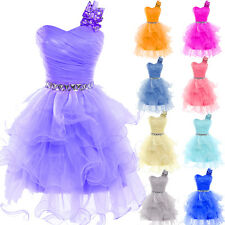 Prom Party Evening Dress Cocktail Tutu Formal Homecoming Bridesmaid Dress 2-16