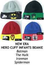 NEW ERA DC/MARVEL COMIC HERO CUFF INFANTS BEANIE - Batman/Hulk/Ironman/Spiderman