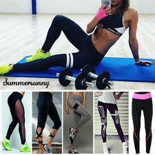 Womens YOGA Workout Gym Sports Pants Leggings Lady Fitness Stretch Trousers S452