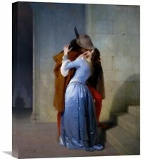 Global Gallery 'The Kiss' by Francesco Hayez Painting Print on Wrapped Canvas