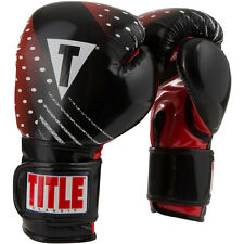 Title Boxing Classic C-Charged Hook and Loop Bag Boxing Gloves - Black/Red