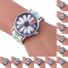 Fashion Casual Weaving Watches Multicolor Case Bracelet Lady Womens Wrist Watch