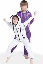 Nordic Way Print Star Cute All In One Piece Jumpsuit Hoodie Fleece Kid Playsuit