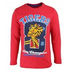 BOYS RED LONG SLEEVE TOP WITH GRAPHIC PRINT IN AGES 2 TO 8 BNWT