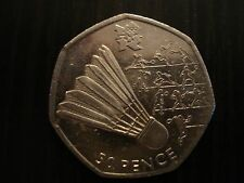 2012 Olympic 50p Badminton coin