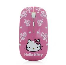 US SELLER Wireless Mouse Ultra Thin Hello Kitty Computer Mouse 2.4GHz 1600DPI