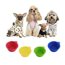 Pet Dog Cat Portable Silicone Collapsible Travel Feed Bowl Water Dish Feeder HK