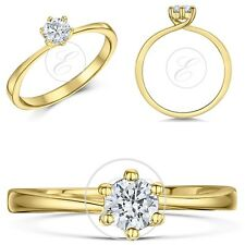 9ct Yellow Gold Diamond Solitaire Engagement Ring 0.25ct 0.33ct 0.50 Carat