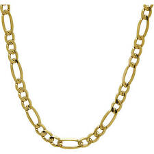 """14K SOLID Yellow Gold Figaro Necklace Chain 1.25MM 16"""" - 22"""" Inches"""