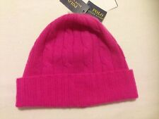 NWT Ralph Lauren Beanie Hat Cable Knit 100% Cashmere one size