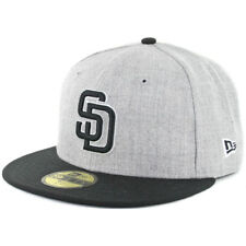 New Era 5950 San Diego Padres Fitted Hat (Heather Grey/Black/White-BK) MLB Cap
