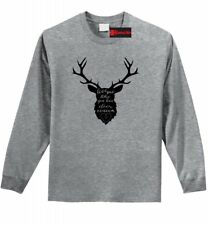 Love Me Like Deer Season Funny Long Sleeve T Shirt Hunter Hunting Gift Tee Z1